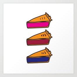 3 Pies - Original/White Art Print