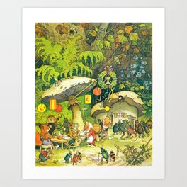 Garden Party by Fritz Baumgarten  Art Print
