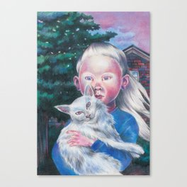 Albino cat Canvas Print