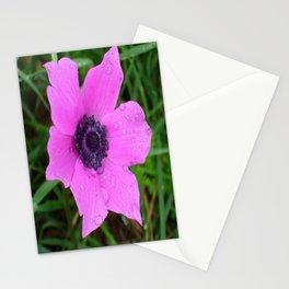 Purple Anemone - Anemone Coronaria Flower Stationery Cards