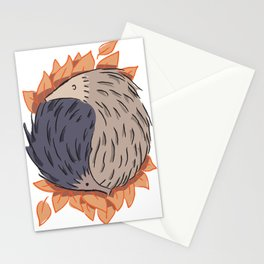 Hedgehog Yin Yang Stationery Cards