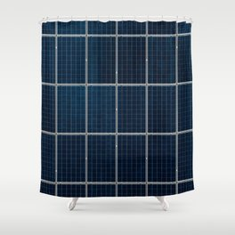 Solar Panel Pattern (Color) Shower Curtain