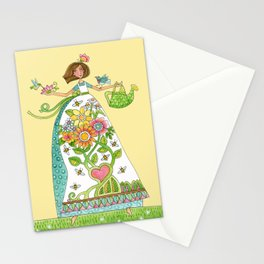 """""""blessed are the garden-keepers"""" (no text)... watercolor art for gardeners Stationery Cards"""
