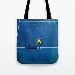 Novak Djokovic Tennis Serving Tote Bag