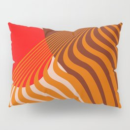 Beyond The Fog - Red & Brown Pillow Sham