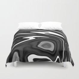 SIXTIES - BLACK Duvet Cover