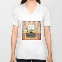 write V-neck T-shirts featuring write me by Asja Boros