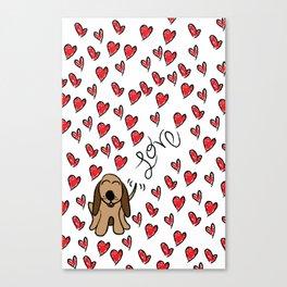 Hound Dog Love Canvas Print