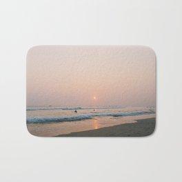 Sunset Surf on Kabalana Beach, Ahangama, Sri Lanka Bath Mat