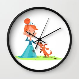 Princess and the mucky Pooch Wall Clock