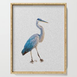 Blue Heron Silhouette Serving Tray