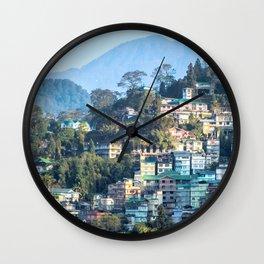 Pastel City : Gangtok Wall Clock