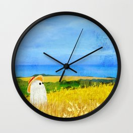 There's a Ghost in the Wheat Field Wall Clock