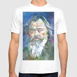 JOHANNES BRAHMS - watercolor portrait.1 T-shirt