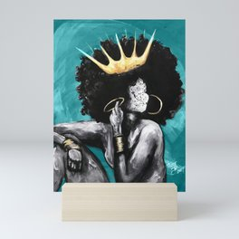 Naturally Queen VI  TEAL Mini Art Print