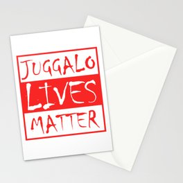 Juggalo Lives Matter T-shirt Design Clown Protest Rally Oppose Spooky Resist Object Objection Stationery Cards