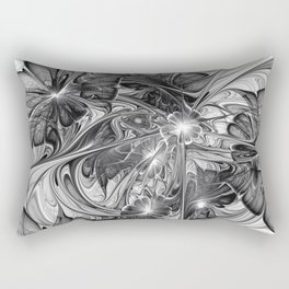 Black And White Abstract Art Rectangular Pillow