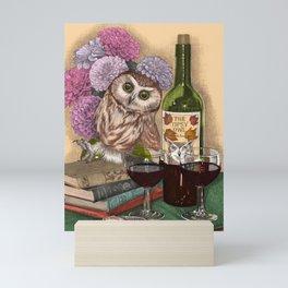 The Tipsy Owl Mini Art Print