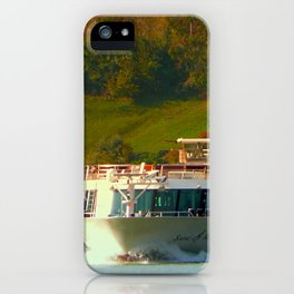 Cruise ship on the river Danube | waterscape photography iPhone Case