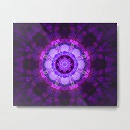 Crystal Abstract - Purple Metal Print