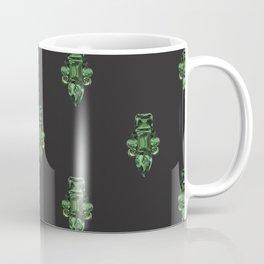 Jewelbox: Emerald Brooch Repeat in Black Onyx Coffee Mug
