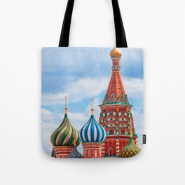 St. Basil's Cathedral in Moscow, Russia. Tote Bag