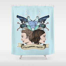 FitzSimmons Biatch Shower Curtain