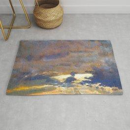 Johan Christian Dahl Cloud Study with Sunbeams Rug