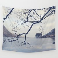 lake Wall Tapestries featuring Lake by Marie Carr