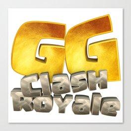 GG Clash Royale Canvas Print
