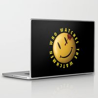 watchmen Laptop & iPad Skins featuring Who Watches The Watchmen? by Jack Allum