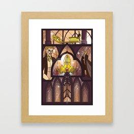 Balem Abrasax - I create life Framed Art Print