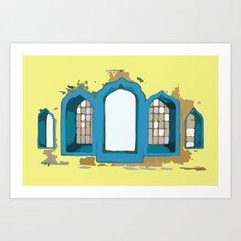 my blue windows  Art Print