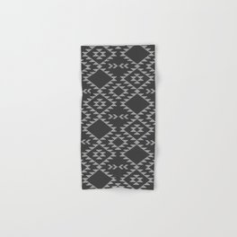 Southwestern textured navajo pattern in black & white Hand & Bath Towel