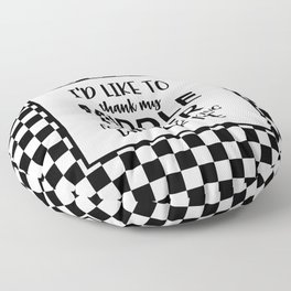 Middle Finger Quote Floor Pillow