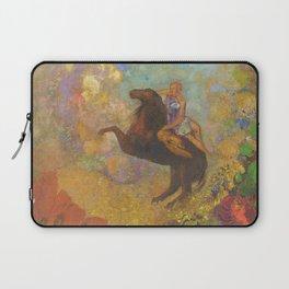 Muse on Pegasus - Odilon Redon Laptop Sleeve