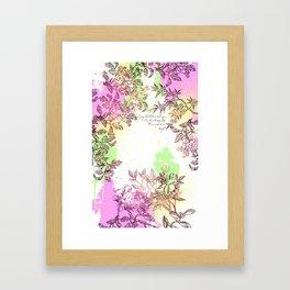 Floral Splatter Framed Art Print