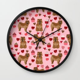 Chow Chow dog breed pure breed valentines day cupcakes love pet gifts must have doggo pupper lovers Wall Clock