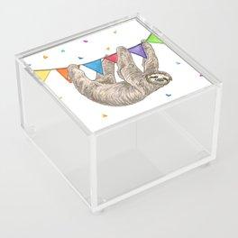 Sloth with Bunting #1 Acrylic Box
