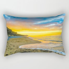 Cromer Beach, U.K at Sunset Rectangular Pillow