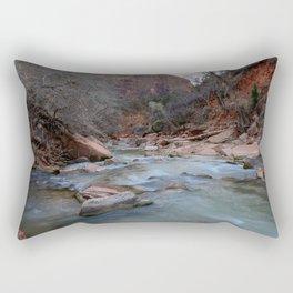Virgin_River in Winter - Zion_National_Park Rectangular Pillow