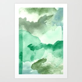 Meadow Pool Abstract Art Print