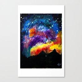 Majestic Night Sky Canvas Print