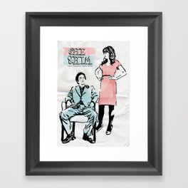 She & Him Gig Poster Framed Art Print