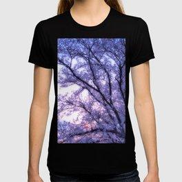 Periwinkle Lavender Flower Tree T-shirt