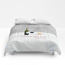 Cake and Fine Wine Comforters