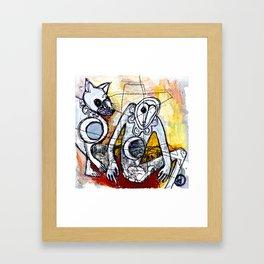 A Dozen Jackals Framed Art Print