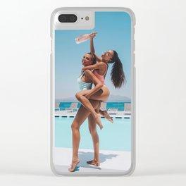 Horny sex bikini seductive nude kawaii rear strip pinup naked ass tush boobies teen Slutty fuck brea Clear iPhone Case