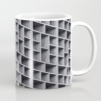 grid Mugs featuring Grid by Cameron Booth