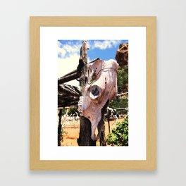 Cow Skull Ranch Framed Art Print